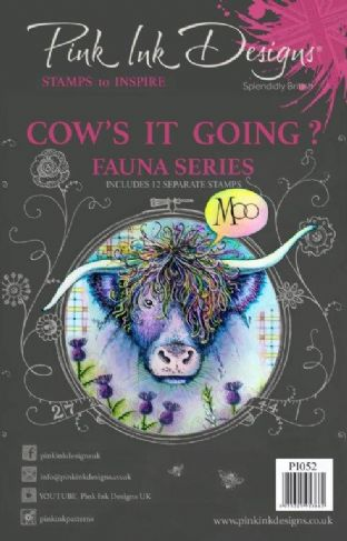 Pink Ink Designs Clear Stamp Cow's It Going A5